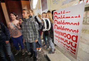 CinŽma, festival DelŽmont-Hollywood, DelŽmont 17 septembre 2013. Photo: sŽance pour les Žcoliers au cinŽma La Grange. (Roger Meier)