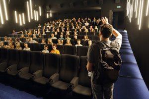 CinŽma. Festival DelŽmont-Hollywood les projections de cinŽma pour les Žcoles, cinŽma Cinemont DelŽmont 13 septembre 2016. (Roger Meier)